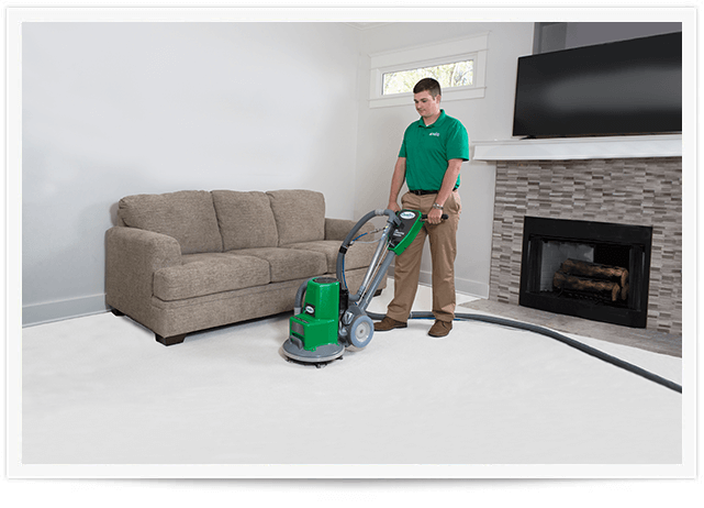 chem-dry tech performing carpet cleaning in fort smith